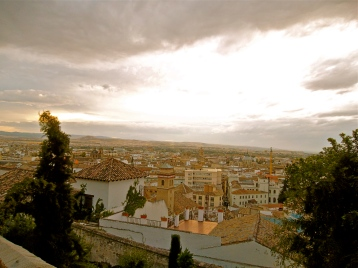 Looking down at Granada