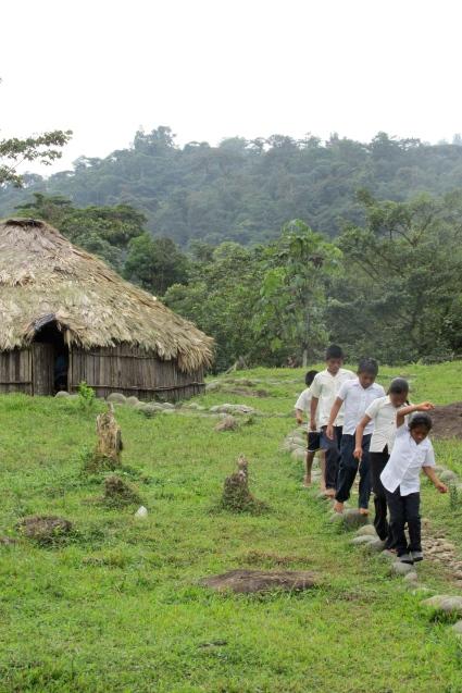 Karkö Kids Walking to School