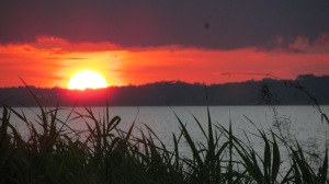 Sunset over the Amazon, Perú