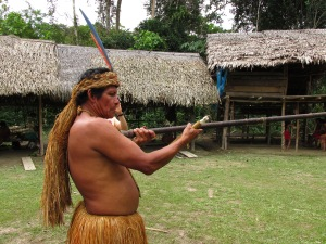 Chief with a Blow Dart, Amazon, Perú